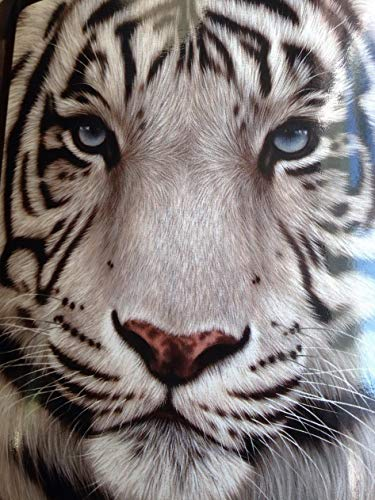 Hebel American Heritage Collection, White Face Tiger Raschel Throw Blanket, 50