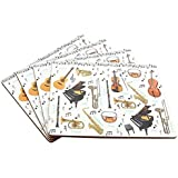 Set of 4 Placemats - Making Music Design by The Leonardo Collection