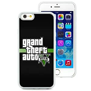 Fashionable and DIY Phone Case Design with Grand Theft Auto 5 Logo iPhone 6 4.7inch TPU case Wallpaper in White