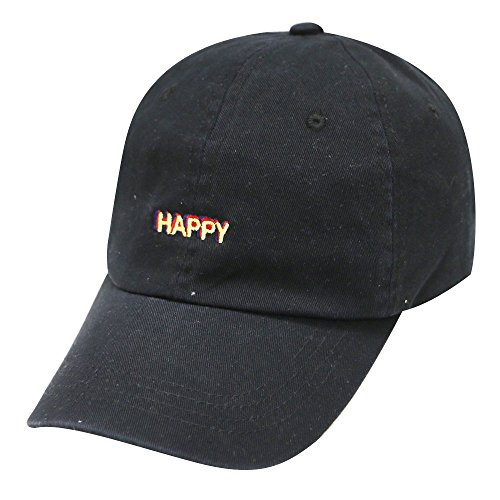 (City Hunter C104 Happy Small Embroidered Cotton Baseball Caps 12 Colors)