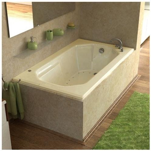 Atlantis Whirlpools 3660mar Mirage Rectangular Air Jetted Bathtub, 36 X 60, Right Drain, (Whirlpool Jetted Tubs)