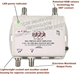2-Port Bi-Directional Cable TV HDTV Amplifier Splitter Signal Booster with Passive Return Path