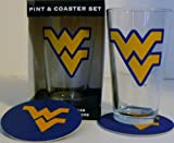 NCAA Officially Licensed University of West Virginia Mountaineers Pint and Coaster Set