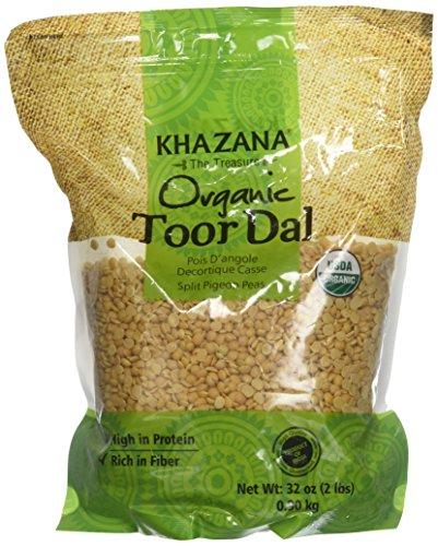 Khazana, Organic Joor Dal (Split Pigeon Peas), 2 Pound(LB) by Khazana
