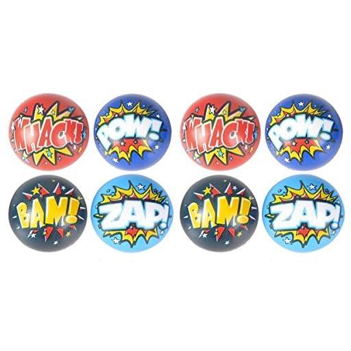 Superhero Stress Balls Bulk pack (50 Pack) Stress Relax Toy Balls, Ball Assortment