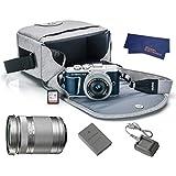 OlympusPEN E-PL9 Mirrorless MicroFour Thirds Digital Camera [Blue] + M.Zuiko Digital ED 14-42mm f/3.5-5.6 EZ Lens (Silver) + M.Zuiko Digital ED 40-150mm f/4.0-5.6 R Lens (Silver)