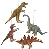 Kurt Adler Dinosaur Ornament Set OF 4