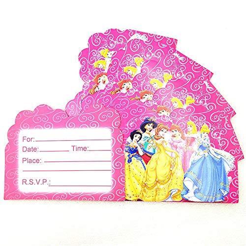 (Best Quality - Cards & Invitations - Disney Six Princess 10pcs/Lot Cartoon Mini Greeting Card Invitation Card Disney Belle Theme Thank You Card Single-Page Type - by SeedWorld - 1)