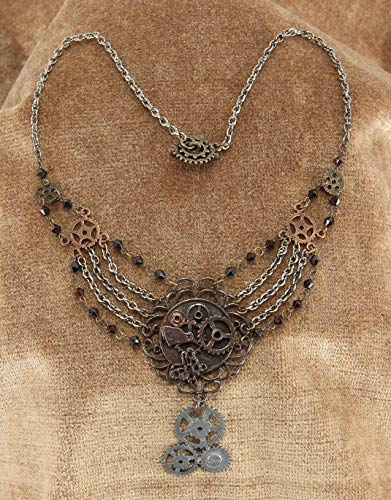 elope Steampunk Gear Chain Necklace for Adults and Women 3