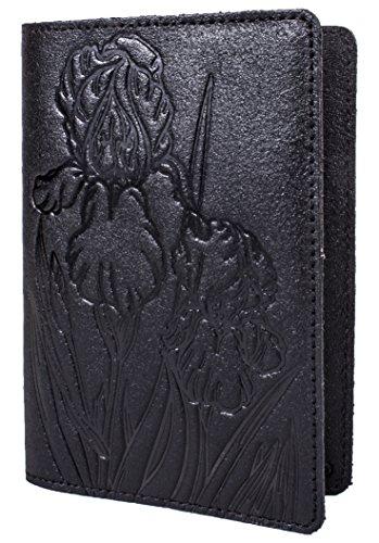 (Black Calf Leather Passport Cover, IRIS Print, International Format, 133*192 mm)