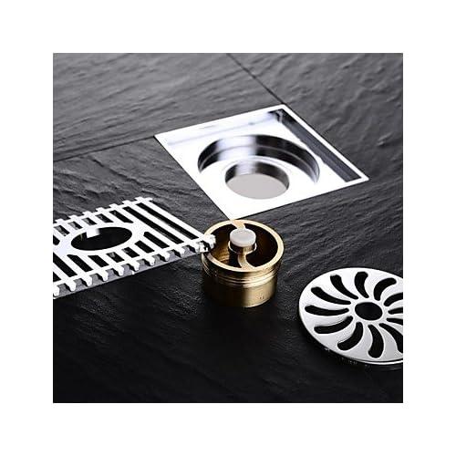 85%OFF lana Contemporary Chrome Finish Brass Floor Drain