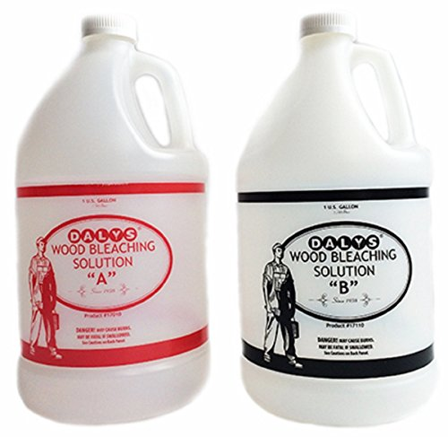 Daly's Wood Bleach Solution Kit Containing Solution A and B, 2 Gallons - Wood Bleach