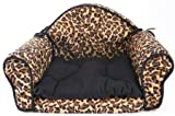 Leopard Print PET BED Pillow Cushion - Sofa/couch Design - Dog, Cat, Puppy