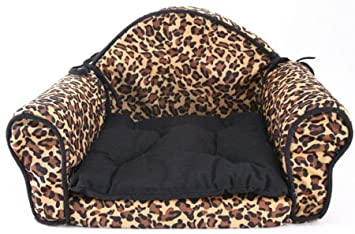 Leopard Print PET BED Pillow Cushion   Sofa/couch Design   Dog, Cat,