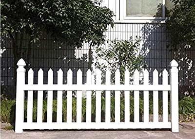 "Caesar Fence 36""Hx72""W Premium Vinyl Picket Fence Permanent Garden/Yard/pool Fence Panel 3Fx6F?CS-007?"