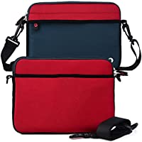 Patriot Red/Blue Universal Slip Case with Handle for RCA DRC99310U 10-Inch Portable DVD Player