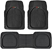 Motor Trend FlexTough Contour Liners-Deep Dish Heavy Duty Rubber Floor Mats for Car SUV Truck & Van-All We