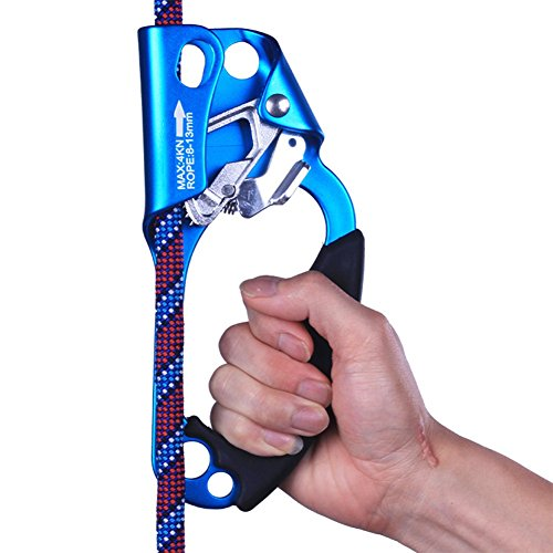 Right Hand Ascenders, Outdoor Equipment Stainless Steel Hand Type Ascenders, Random Colors