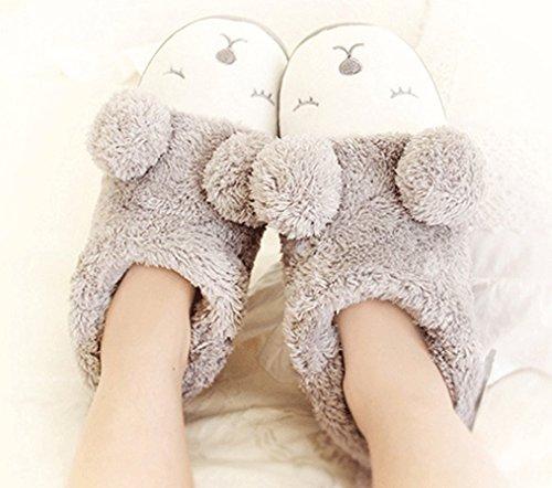 Cattior Womens Pantofole Morbide Pantofole Calde Pantofole Cinesi Grigie