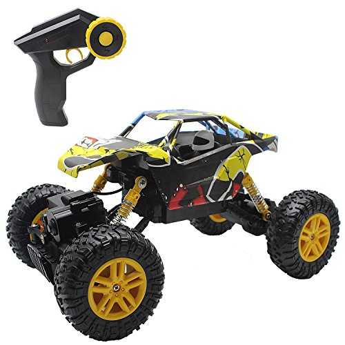 Hosim RC Graffiti Rock Crawler, 2.4G 4WD Off-Road Radio Control Car Climber 4-Wheel Drive 1:18 Scale Monster Truck, DIY Fun & Ready to Run Remote Control Buggy Great Gift for Kids