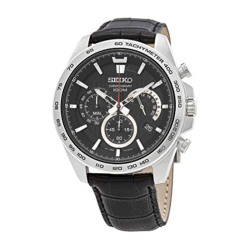 Seiko Chronograph Black Dial Mens Watch SSB305P1 -