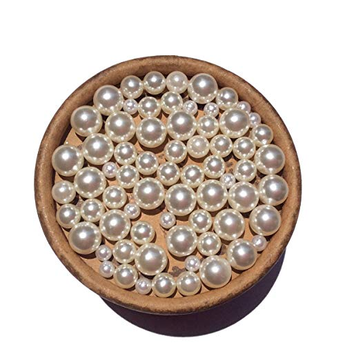 EmmaGreen Gorgeous ABS Round Undrilled No Hole Pearls Ivory Imitation Pearl Beads Without Hole Tiny Small for Decoration (3mm 300pcs)