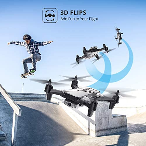 DEERC D20 Mini Drone for Kids with 720P HD FPV Camera Remote Control Toys Gifts for Boys Girls with Altitude Hold, Headless Mode, One Key Start, Tap Fly, Speed Adjustment, 3D Flips 2 Batteries 51bYwQV1h0L