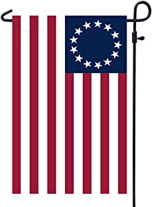 Homissor Betsy Ross American Garden Flags-13 Star US Double Sided Yard Flag Banner Patriotic Outdoor Lawn Decoration 12.5 X 18.5 Inch (Betsy Ross Garden Flag)