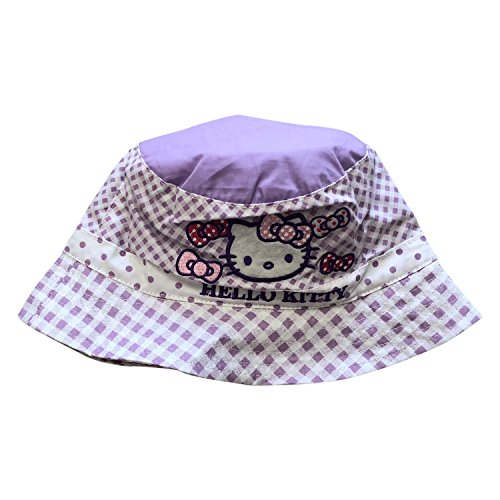 Hello Kitty 100% Cotton Embroidered Hoed Hat for Baby Girls,2 Baby Sizes,3 -