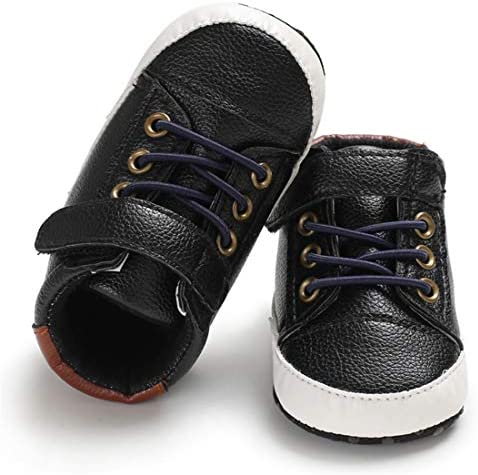 51bYwkfPTbL. AC - LAFEGEN Baby Boys Girls Oxford Dress Shoes Non Slip Lace Up Sneaker PU Leather Moccasins Newborn Infant Toddler Loafers First Walker Crib Shoes 3-18 Months