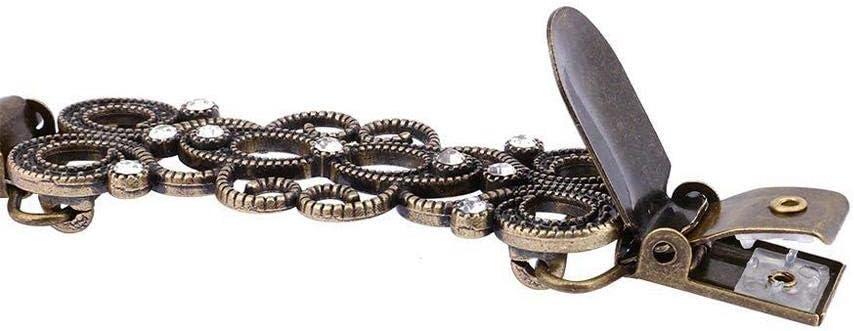 Globalqi Innovative Frauen Strickjacke Clip Legierung Strass Pullover Clip Strickjacke Verbindung Schnalle Kragen Clip Pin Brosche Bekleidungszubeh/ör BZ818