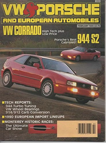 VW & Porsche and European Automobiles Magazine, February 1990 (Vol 21, No 1)