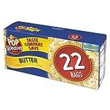 popcorn bags microwave - Pop Weaver Microwave Popcorn, Butter, 2.17oz Bag, 22/Box