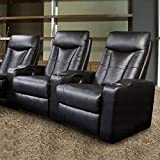 Cheap Pavillion Theater Seating – 2 Black Leather Chairs – Coaster Co.