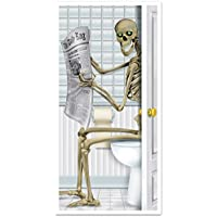 Skeleton Restroom Door Cover Party Accessory (1 count)...