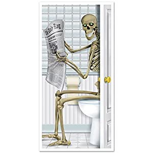 Skeleton Restroom Door Cover Party Accessory