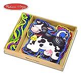 Melissa & Doug Lace & Trace Farm Activity Set (5 Wooden Panels, 5 Matching Laces)