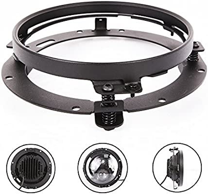TRUCKMALL 7 inch LED Headlight Ring for Harley Davidson Ultra Classic Electra Glide Street Glide Switchback Road King Motorcycle Black