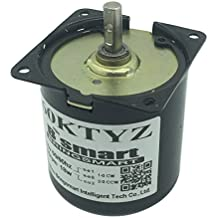 Bringsmart 60ktyz 2.5rpm 110V AC Motor Low Speed Mini Gearbox Electric Motor Barbecue High Torque 110V Geared Motor Synchronous Reduction Motor Reversible (60KTYZ)