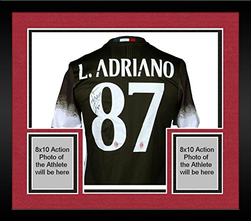 Framed Luiz Adriano AC Milan Autographed Game-Used International Champions Cup Green #87 Jersey vs Liverpool on July 30, 2016 - Fanatics Authentic Certified