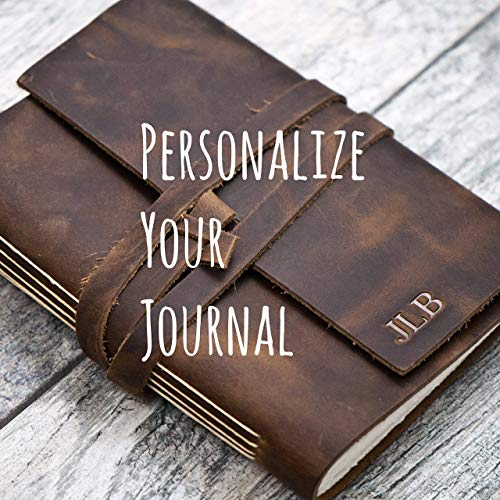 Personalized Leather Journal Notebook or Sketchbook | Rustic Brown, Saddle Tan, Dark Brown ()
