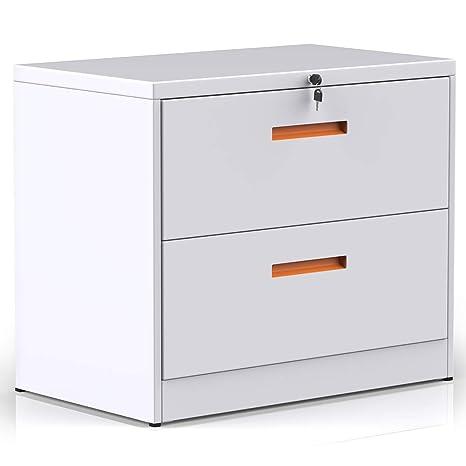 Amazon.com: modernluxe lateral mueble archivador con de ...
