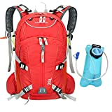 ANMEILU 20L Waterproof Outdoor Cycling Biking, Hiking, Traveling & Camping Backpack with a Rain Cover & 2L Water Bag (Red) For Sale