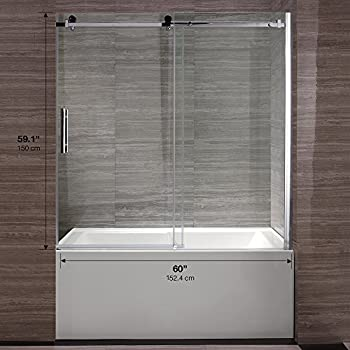 Ove Decors Beacon Tub Door Double Sliding Frosted Glass