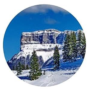 alfombrilla de ratón Granier macizo bajo nieve - ronda - 20cm