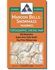 Maroon Bells-Snowmass Wilderness - Colorado Topographic Hiking Map (2018)