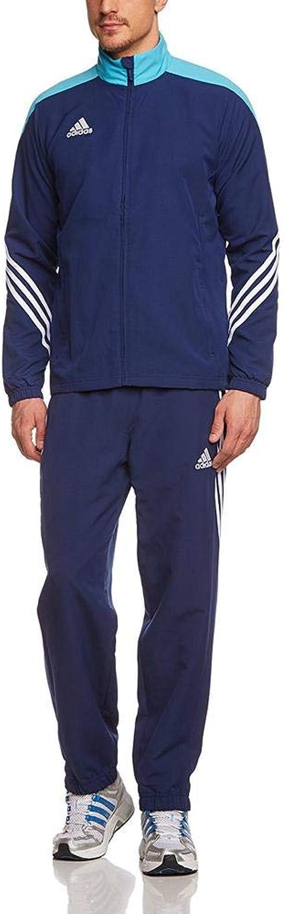 adidas Men's Sereno 14 Presentation Suit (Small, Dark BlueSupcyaWhite)