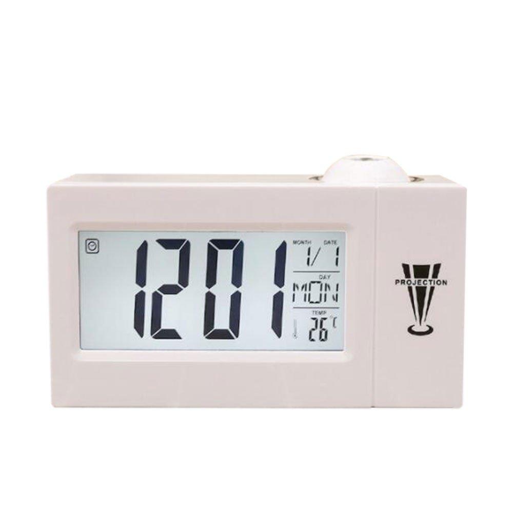 FR-BIUS Despertador/proyector Despertador/LED Reloj electrónico ...