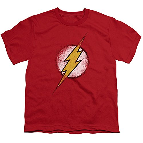 The Flash Logo Vintage Style DC Comics Superhero Youth T-Shirt Tee