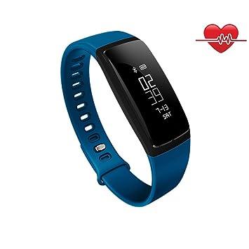 OOLIFENG Fitness Tracker Relojes Con Pulsómetros Pulsera Inteligente Para Iphone Android Teléfonos(Azul): Amazon.es: Deportes y aire libre